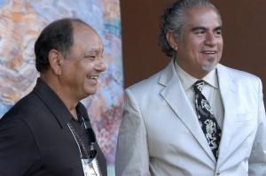 Cheech Marin and Richard S. Duardo at Plaza del La Raza in LA
