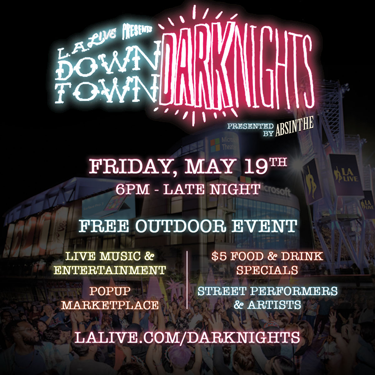 Downtown Dark Nights Returns to LA Live