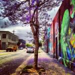 The Purple Tree on 2nd Street in LA