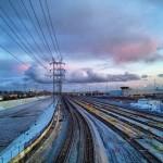 """Lavender Tracks at 1st Street Bridge"" by Melissa Richardson Banks © 2013"